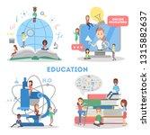 education web banner set. idea... | Shutterstock .eps vector #1315882637