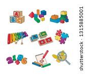 daycare toys. educational games ... | Shutterstock .eps vector #1315885001