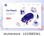 car repair shop  auto dealer... | Shutterstock .eps vector #1315885361