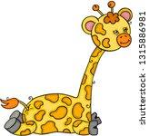 cute little giraffe | Shutterstock .eps vector #1315886981