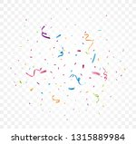 colorful confetti on... | Shutterstock . vector #1315889984