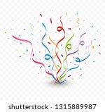 colorful confetti on... | Shutterstock . vector #1315889987