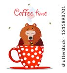 coffee time vector illustration.... | Shutterstock .eps vector #1315893701