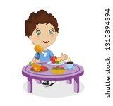 funny smiling cartoon boy with... | Shutterstock .eps vector #1315894394