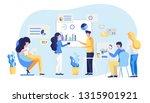 friendly team work colleagues... | Shutterstock .eps vector #1315901921