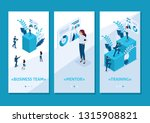 isometric template app concept... | Shutterstock .eps vector #1315908821