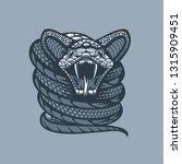 twisted viper .monochrome... | Shutterstock .eps vector #1315909451