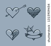 set of hearts .monochrome... | Shutterstock .eps vector #1315909454