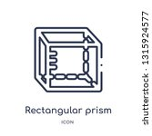 rectangular prism icon from... | Shutterstock .eps vector #1315924577
