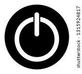 shut down icon vector on black...