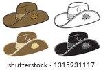 australian army slouch hat | Shutterstock .eps vector #1315931117