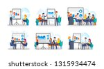 collection of people making... | Shutterstock .eps vector #1315934474