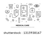 healthcare concept with medical ... | Shutterstock .eps vector #1315938167