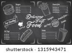 vintage chalk drawing fast food ... | Shutterstock .eps vector #1315943471