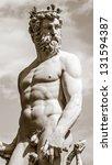 statue of neptune on piazza... | Shutterstock . vector #131594387