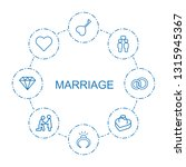 marriage icons. trendy 8... | Shutterstock .eps vector #1315945367