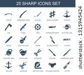 sharp icons. trendy 25 sharp... | Shutterstock .eps vector #1315945424
