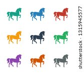 horse icon white background.... | Shutterstock .eps vector #1315945577