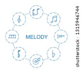 melody icons. trendy 8 melody... | Shutterstock .eps vector #1315946744