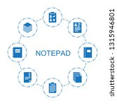 8 notepad icons. trendy notepad ...   Shutterstock .eps vector #1315946801