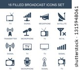 broadcast icons. trendy 16... | Shutterstock .eps vector #1315948061