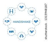 handshake icons. trendy 8... | Shutterstock .eps vector #1315948187