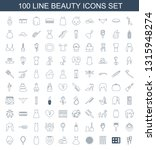 100 beauty icons. trendy beauty ... | Shutterstock .eps vector #1315948274