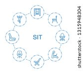 8 sit icons. trendy sit icons... | Shutterstock .eps vector #1315948304
