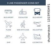 passenger icons. trendy 9... | Shutterstock .eps vector #1315950491