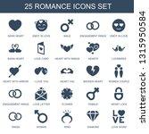 romance icons. trendy 25... | Shutterstock .eps vector #1315950584
