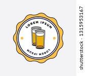beer glass logo sticker badge... | Shutterstock .eps vector #1315953167