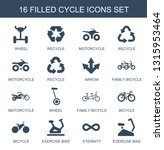cycle icons. trendy 16 cycle... | Shutterstock .eps vector #1315953464