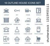 16 house icons. trendy house... | Shutterstock .eps vector #1315955111