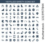 safety icons. trendy 100 safety ... | Shutterstock .eps vector #1315957844