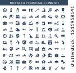 100 industrial icons. trendy... | Shutterstock .eps vector #1315958141