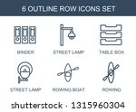 6 row icons. trendy row icons... | Shutterstock .eps vector #1315960304