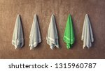 row of similar grey terry aqua... | Shutterstock . vector #1315960787