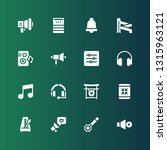 sound icon set. collection of... | Shutterstock .eps vector #1315963121