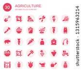 agriculture icon set.... | Shutterstock .eps vector #1315963214