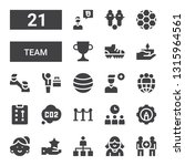 team icon set. collection of 21 ... | Shutterstock .eps vector #1315964561