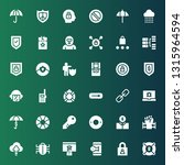 security icon set. collection... | Shutterstock .eps vector #1315964594