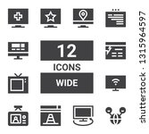 wide icon set. collection of 12 ... | Shutterstock .eps vector #1315964597