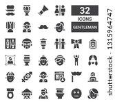 gentleman icon set. collection...   Shutterstock .eps vector #1315964747