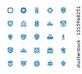 guard icon set. collection of... | Shutterstock .eps vector #1315968251