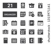 organizer icon set. collection... | Shutterstock .eps vector #1315971161