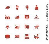 electrical icon set. collection ... | Shutterstock .eps vector #1315971197