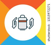 baggage insurance icon colored... | Shutterstock .eps vector #1315972271