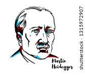 martin heidegger engraved... | Shutterstock . vector #1315972907