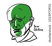 jean sibelius engraved portrait ... | Shutterstock . vector #1315972931