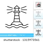 lighthouse thin line icon.... | Shutterstock .eps vector #1315973561
